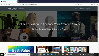 The thing that makes the Art Gush Online Education Website unique is that it helps you implement the marketing for your creative career or business at the rate of just 3 steps a day on an ongoing basis.